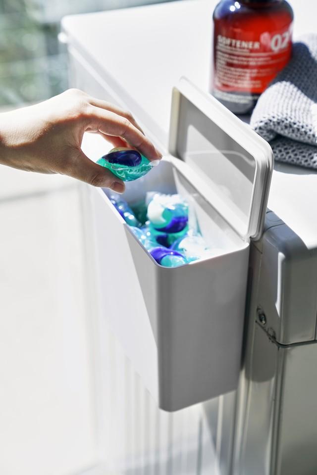 洗濯機横マグネット収納ポケット 3段  プレート
