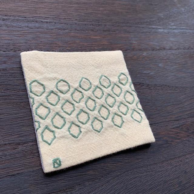 オリジナル刺し子&久留米絣リバーシブルコースター vol.5 created by hako