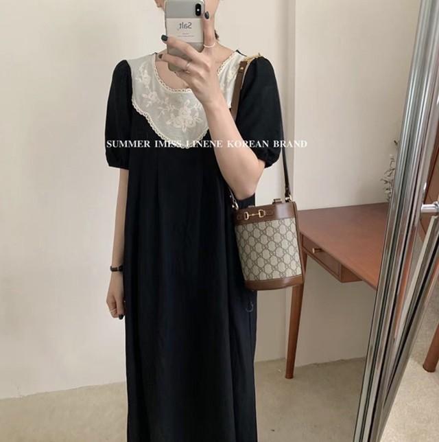 【お取り寄せ】Lace round neck dress / ワンピース / LE-144