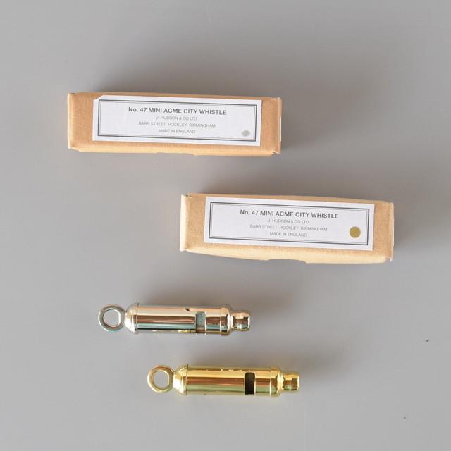 Acme Mini City 47 アクメ ミニ シティ 47   真鍮製 / ニッケル製 ホイッスル