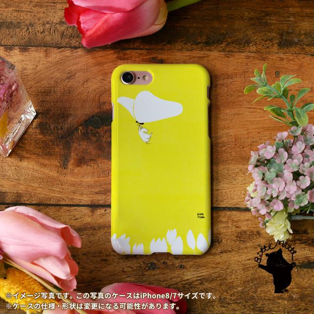 iphone8 ハードケース おしゃれ iphone8 ハードケース シンプル iphone7 ケース かわいい 春 蝶 チューリップ ネコ 猫 さようなら春/Bitte Mitte!