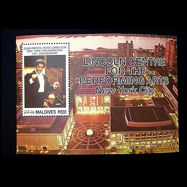 ズービン・メータ ニューヨークフィル150周年 / 海外切手