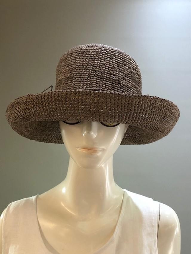 Sans Arcidet (サンアルシデ)FANNY HAT Col.NIMBUS (Greyge) ラフィア定番人気の帽子 マダガスカル製