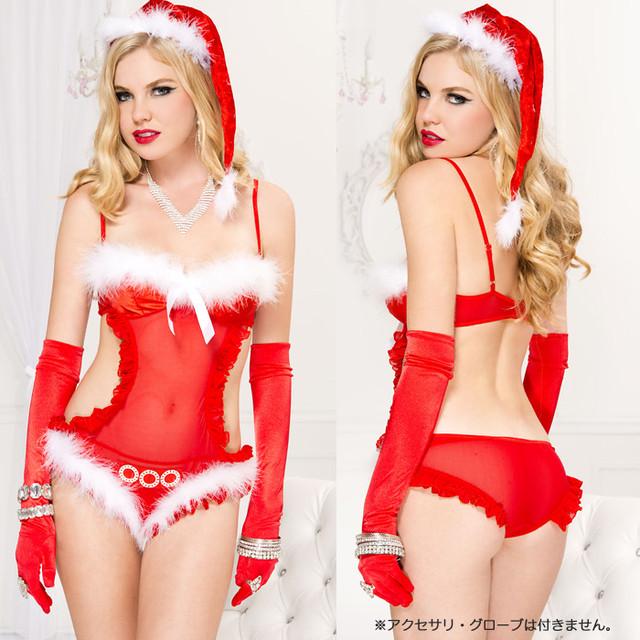 【クリスマス】【サンタ】SEXYサンタテディ×ファー付きサンタハット 2点セットML70584