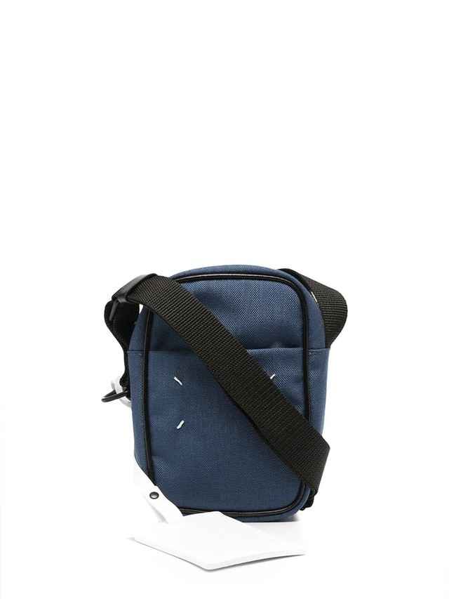 MAISON MARGIELA CORDURA/LEATHER;NEW MINI CAMERA BAG Blue Ashes S55WG0119