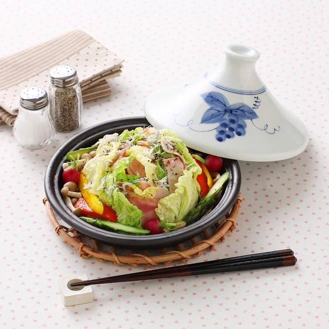 ヘルシータジン鍋 (ぶどう絵) 40-001-B