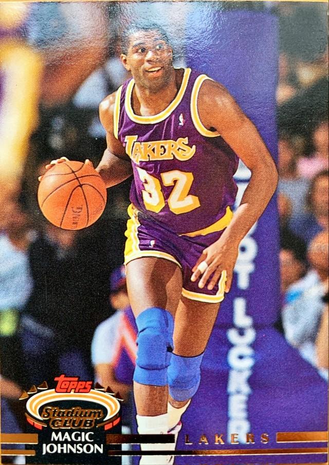 NBAカード 92-93TOPPS Magic Johnson #32 LAKERS