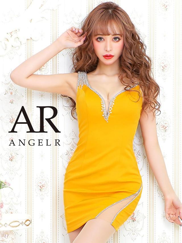 【AngelR】 アシンメトリービジューショルダータイトミニドレス(AR20341)