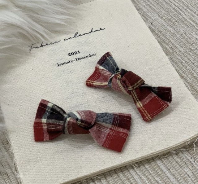 【VELY&MORE】Merry Check Ribbon