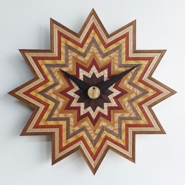 木の掛け時計 CLS-L-凹凸 0012