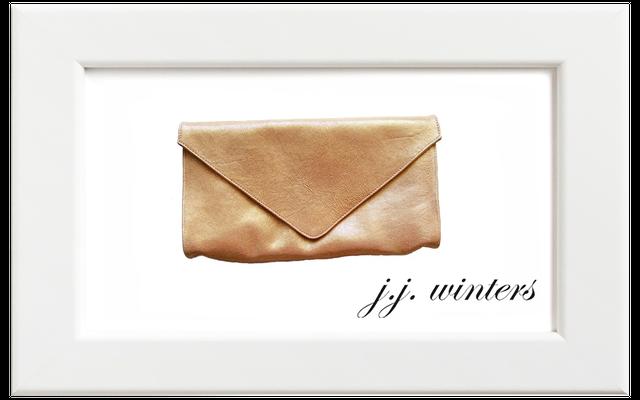 JJ winters/ジェイジェイ・ウィンターズ クラッチバッグ/シルバーゴールド