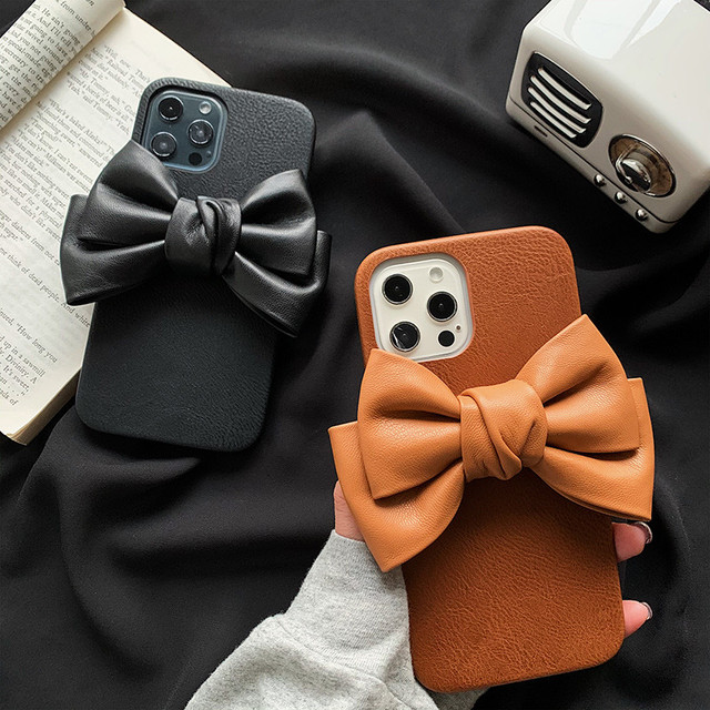 leather big ribbon iPhone case 2c's