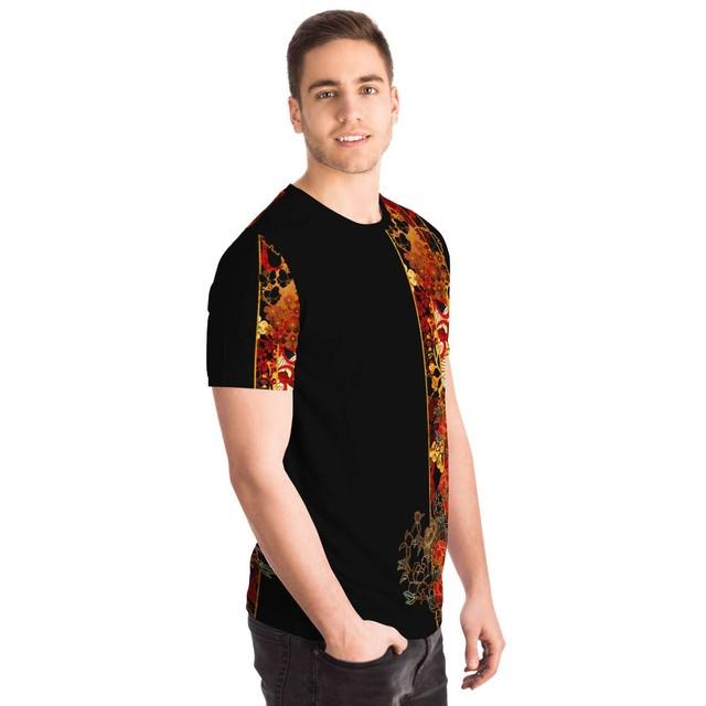 家紋装飾Line ユニセックスTシャツ