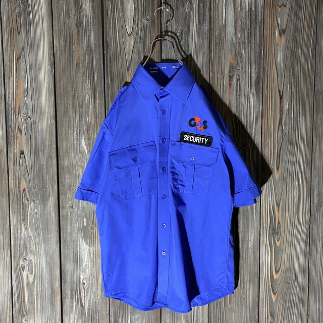 [used]security blue work shirt