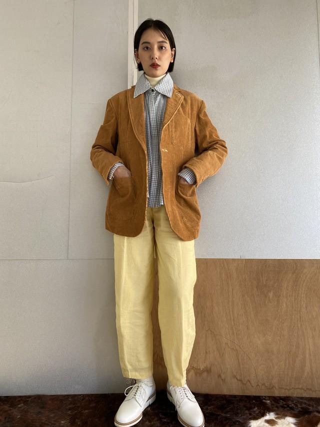 "Safari jacket ""Light brown"" cotton corduroy"