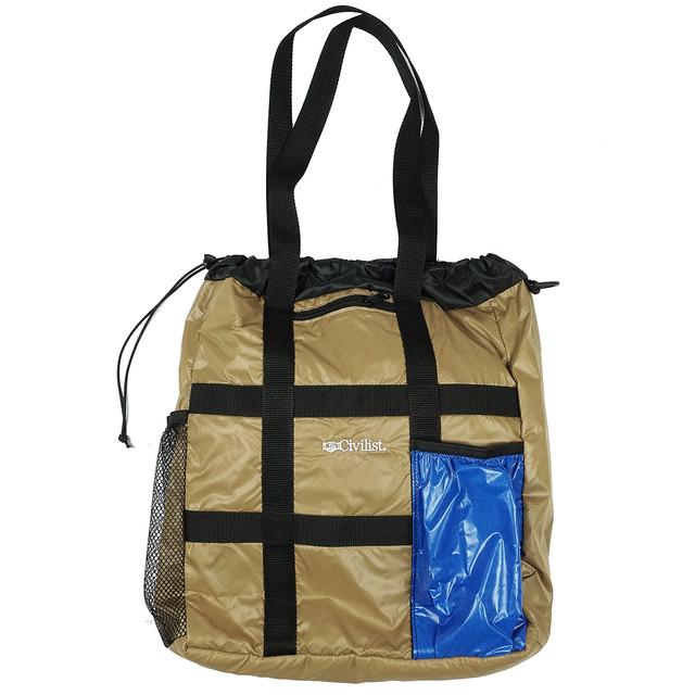 Civilist Tech Tote Bag – Tan/Royal