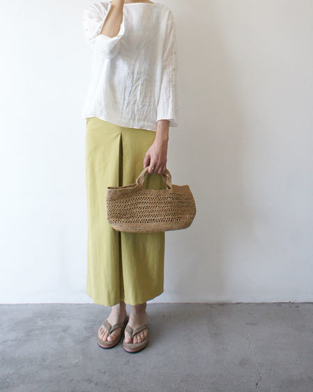 スカート見えボックスプリーツパンツ / ara・ara