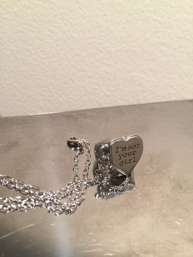 """"""" I'm not your girl."""" Pinky&Necklace silver #0121 アイム・ノット・ユアガール ピンキーリング&ネックレス/シルバー"""
