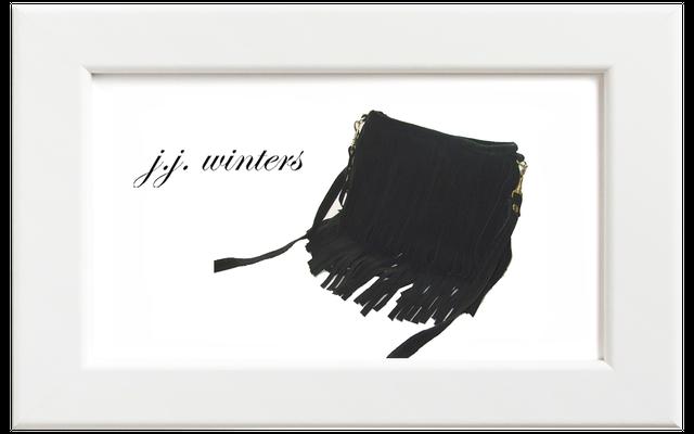 JJ winters/ジェイジェイ・ウィンターズ フリンジミニバッグ/ブラックスウェード