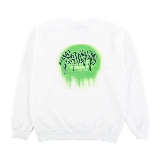MOANDMO  Logo Airbrushed Sweat Shirts  / Green