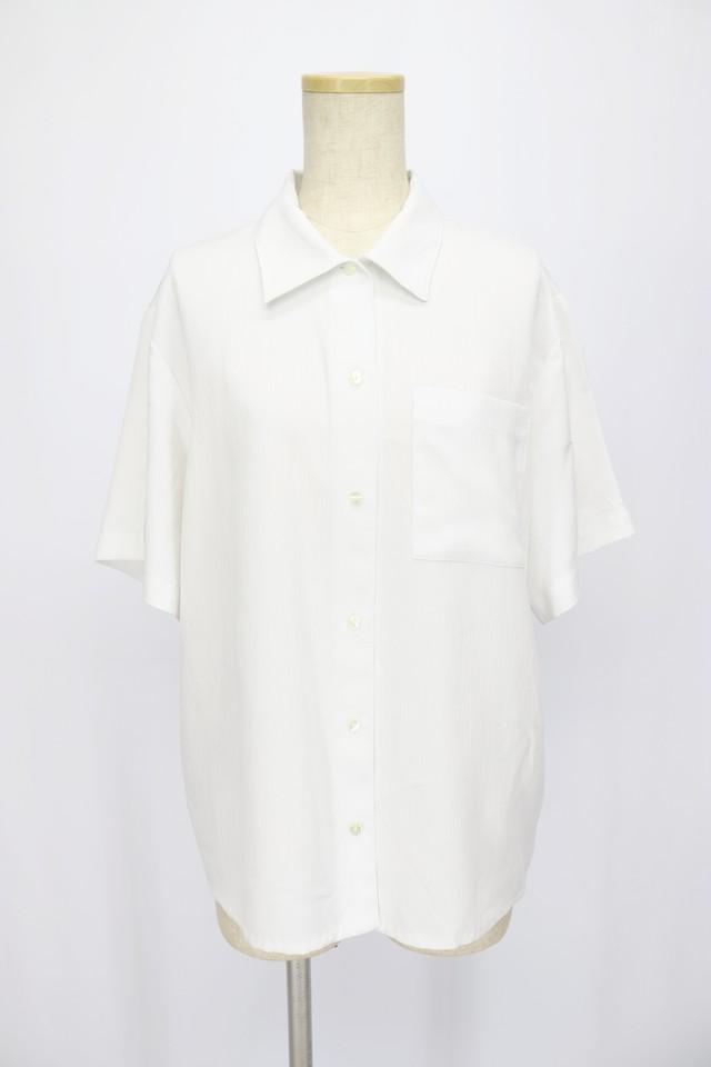 short sleeve design blouse / WHT