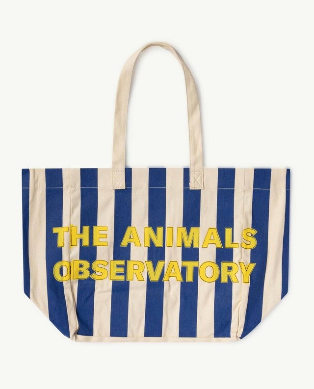 【21SS】the animals observatory ( TAO )  TWILL TOTE BAG ストライプ white navy