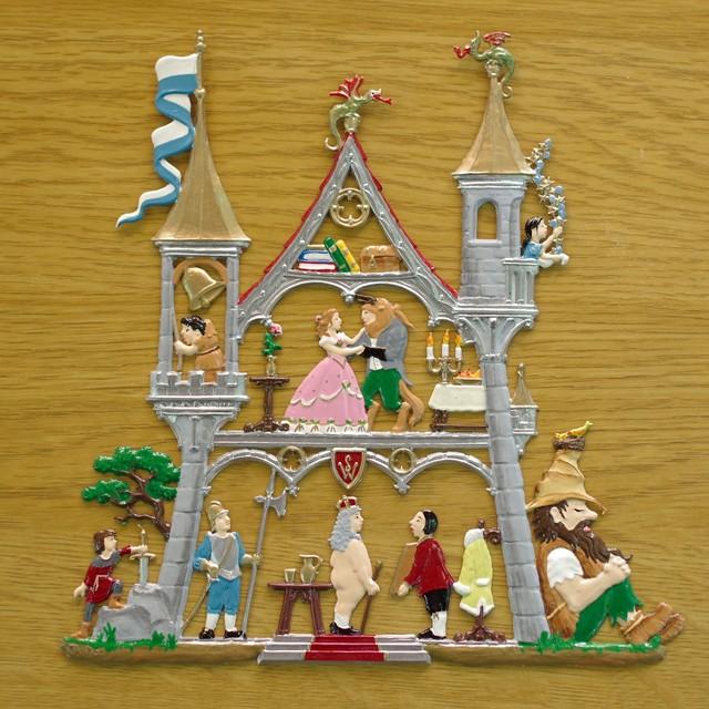 錫の飾り メルヘンのお城