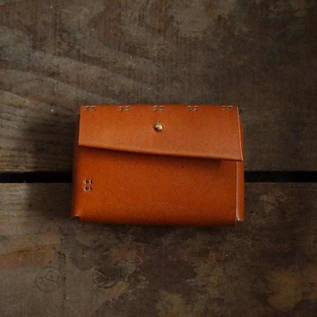 小財布 柿渋染