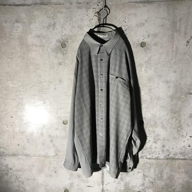 [used] grey checked design shirt