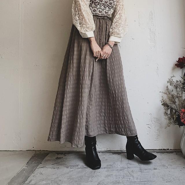 madein ITALY vintage cotton maxi skirt
