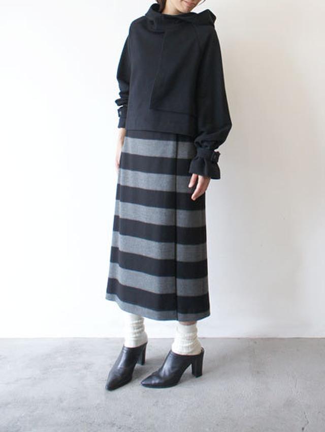 woolボーダースカート / SACRA