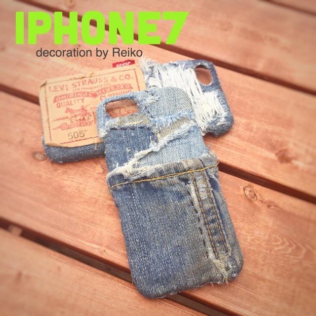 デニムiPhone7カバー(ダメージ)