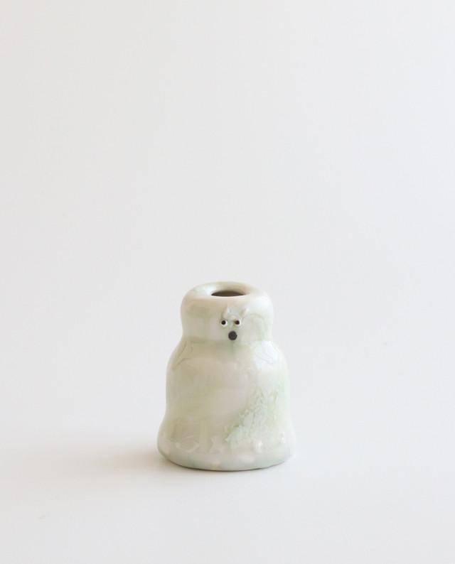 白玉くんのフラワーベース  花瓶