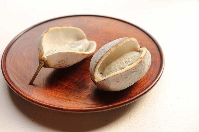 桜拭漆玉縁の丸皿