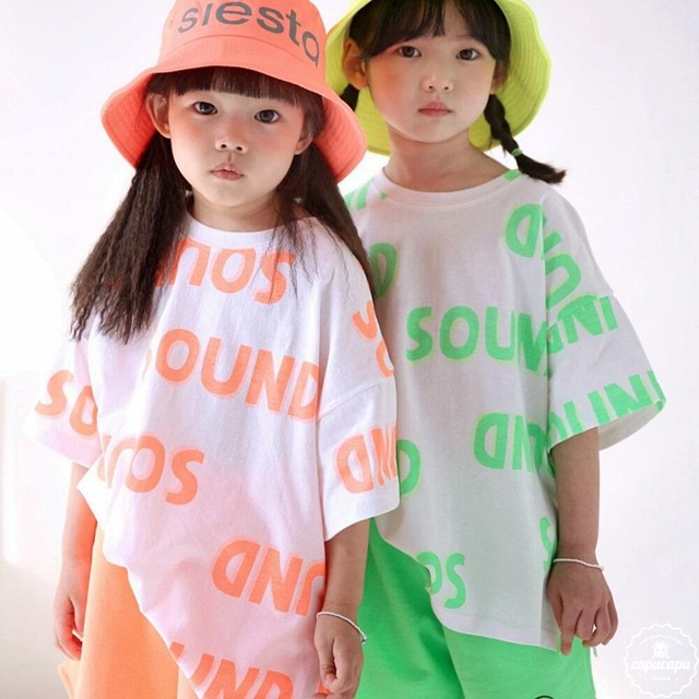 «sold out» bubble kiss neon T ネオンTシャツ