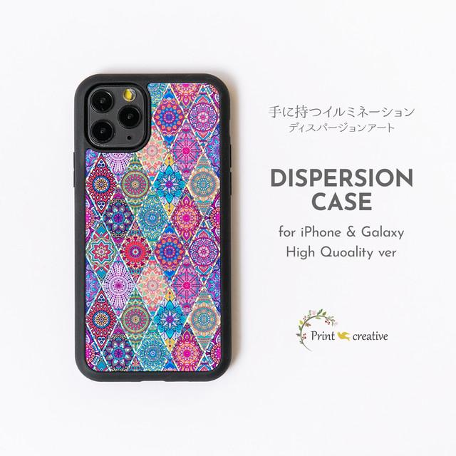 【iPhone12/Galaxy対応】ハイクオリティスマホケース(ピンクモロッコタイル)ディスパージョンアート iPhoneSE 第二世代 GalaxyS20