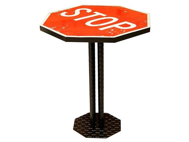 本物!アメリカロードサイン STOP SIGN TABLE