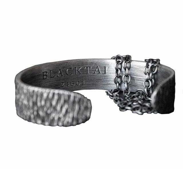 BLACK TAI Crack Adjustable Bracelet SILVER
