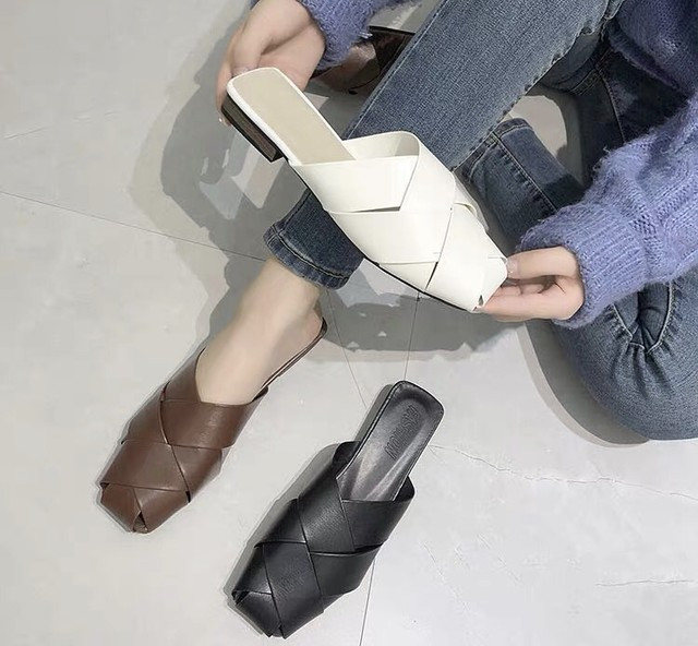 ◆予約◆braided low heel sandal