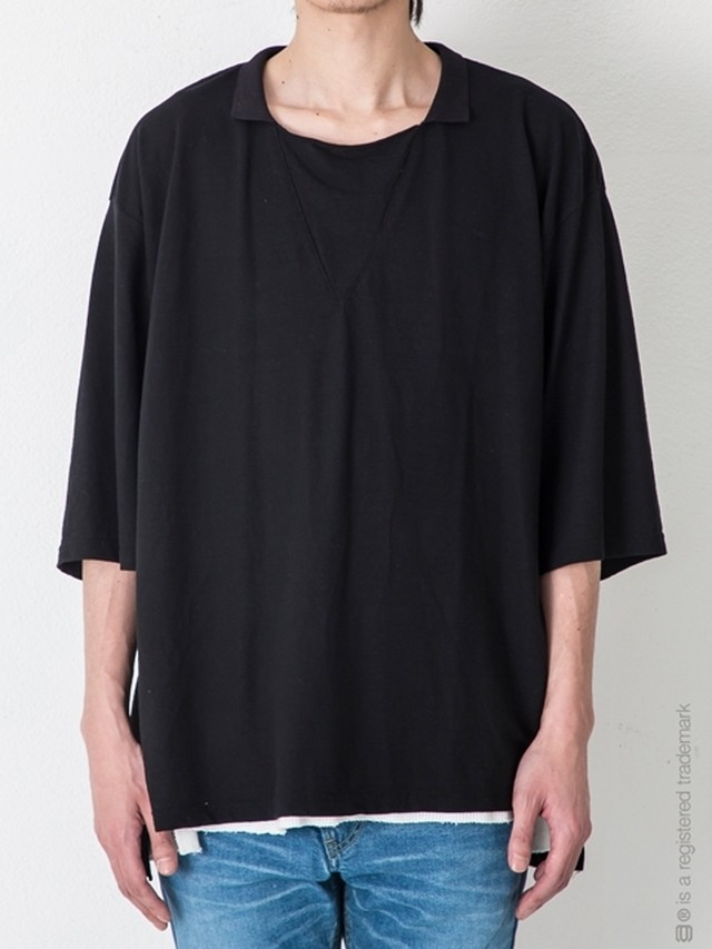【AG by EXPERIMENT】COLLAR 5SLEEVE TEE