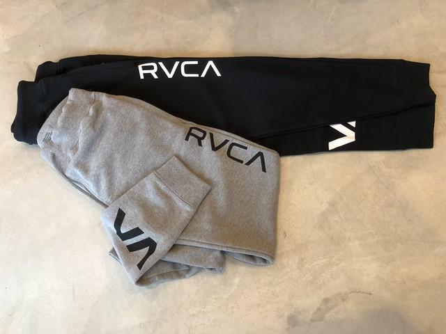 9/17(月)21時再販!RVCA VAスウェットパンツ ¥8700+tax