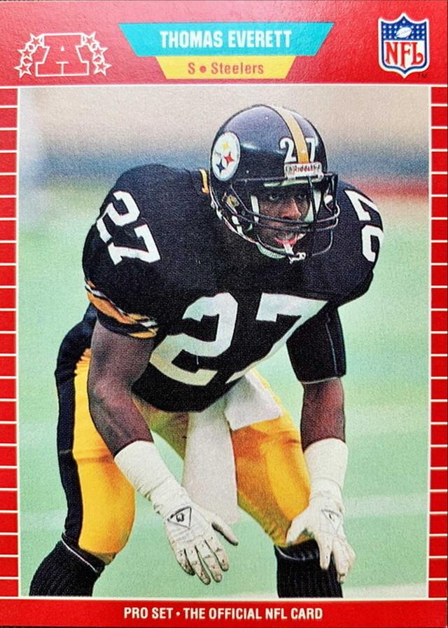 NFLカード 89PROSET THOMAS EVERETT #345 STEELERS