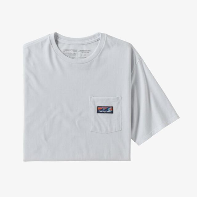 パタゴニア PATAGONIA Tシャツ 半袖 メンズ  ボードショーツ ラベル ポケット レスポンシビリティー 38510 White【正規取扱店】