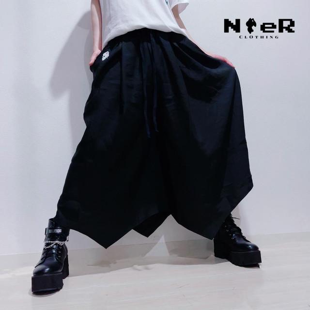 SIMPLE BLACK SUMMER WIDE PANTS