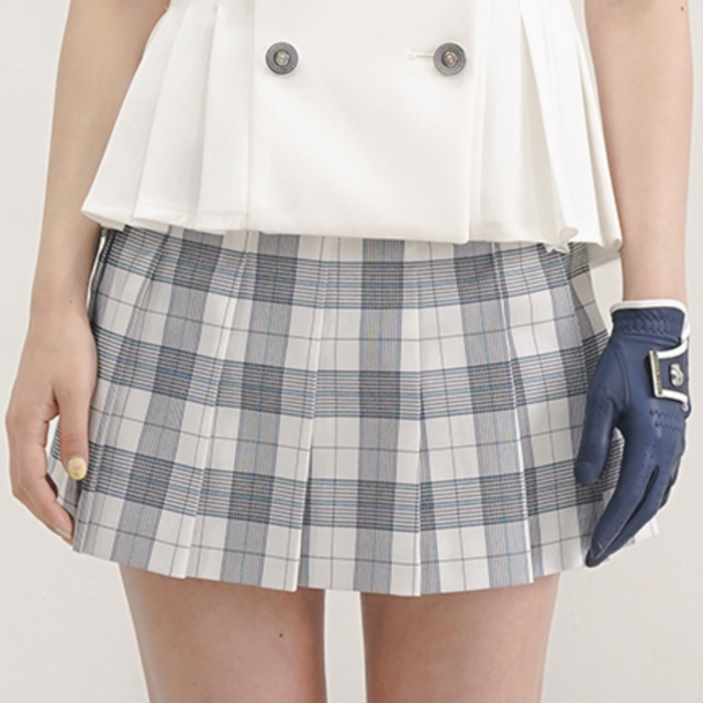 【Used】Summer marine check skirt(white x Blue)