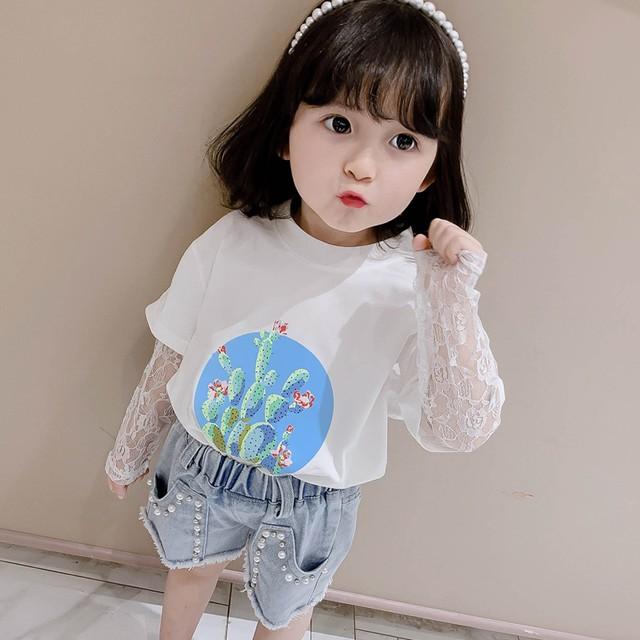 【トップス】ラウンドネック韓国系プルオーバープリント清新Tシャツ29262196