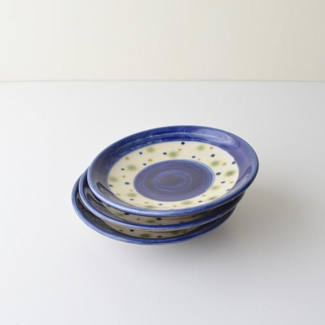 青い水玉の飯マカイ(茶碗)大