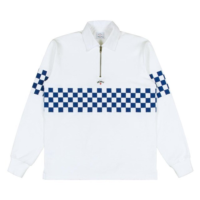 Checkered Zip Rugby(White)