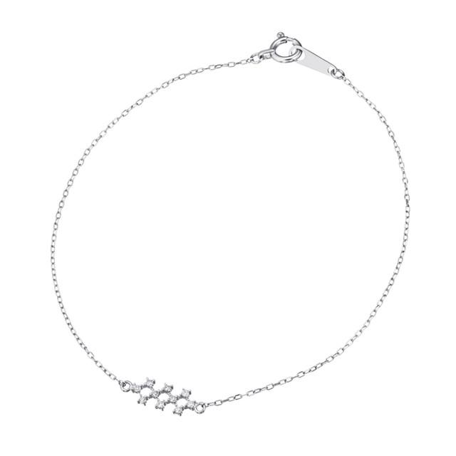 K18WGダイヤモンドブレスレット 040201001355