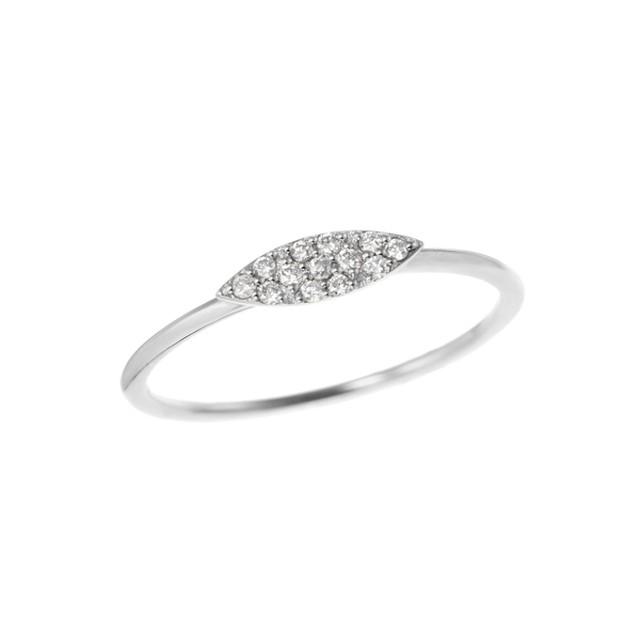 K18WGダイヤモンドリング 010209004581
